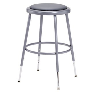 Vinyl Padded Adjustable Height Stool