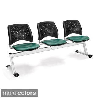 OFM Star Series 3-unit Beam Seating with Vinyl Seats
