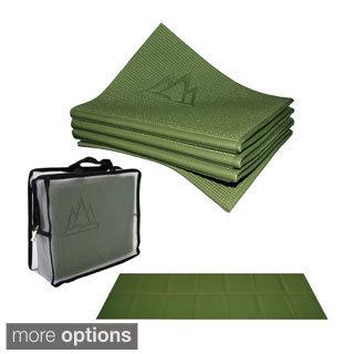 Khataland YoFoMat Folding Extra Long 72-inch ECO Travel Yoga Mat
