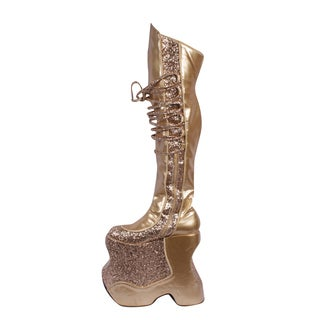 Over-the-Knee Boots, Gold Women's Shoes - Shop The Best Deals For ...