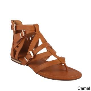 Bumper Women's 'Hope-01' Flat Strappy Sandals