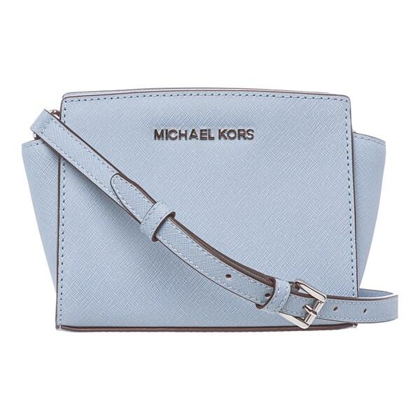 a5cf179fe787 MICHAEL Michael Kors 'Selma' Mini Powder Blue Saffiano Leather