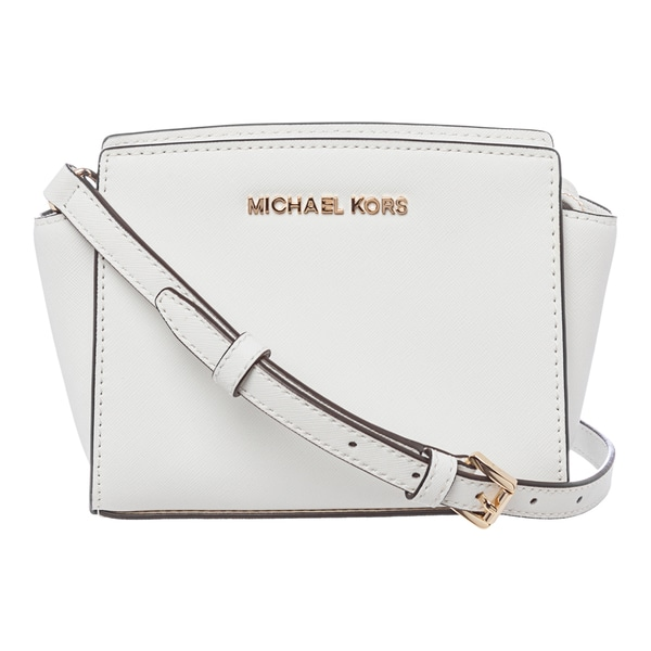 1b39ce065c87 MICHAEL Michael Kors 'Selma' Mini Optic White Saffiano Leather
