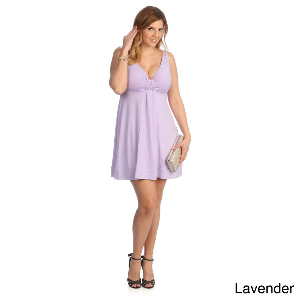 Evanese Womens Plus Size Short V-neck Dress