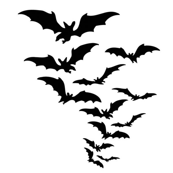 Bat Flock Vinyl Wall Sticker Decal Free Shipping On