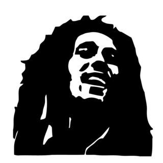 Bob Marley Glossy Black Vinyl Sticker Wall Decal