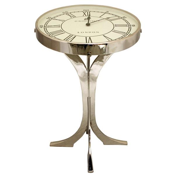 Soho Pedestal Clock End Table