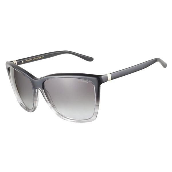 Yves Saint Laurent YSL6347S E4S PT Black Grey Striped 58 Sunglasses
