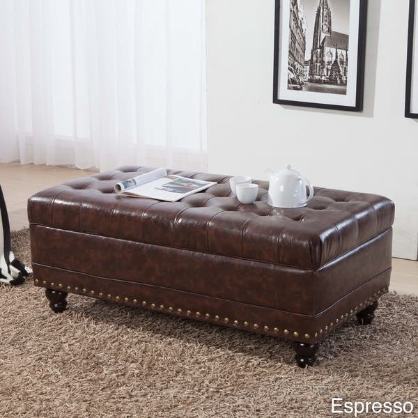 Awesome Shop Luxury Classic Tufted Nailhead Trim Storage Bench Caraccident5 Cool Chair Designs And Ideas Caraccident5Info