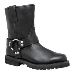 Women's AdTec 2445 8in Harness Biker Black Leather
