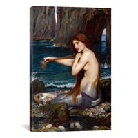 iCanvas A Mermaid by John William Waterhouse Canvas Print Wall Art