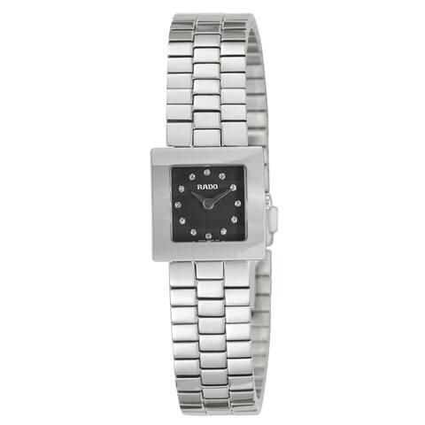 Rado Women's 'Diastar Jubile' Stainless Steel Diamond Accent Swiss Quartz Watch