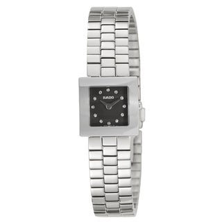 Rado Women's 'Diastar Jubile' Stainless Steel Diamond Accent Swiss Quartz Watch