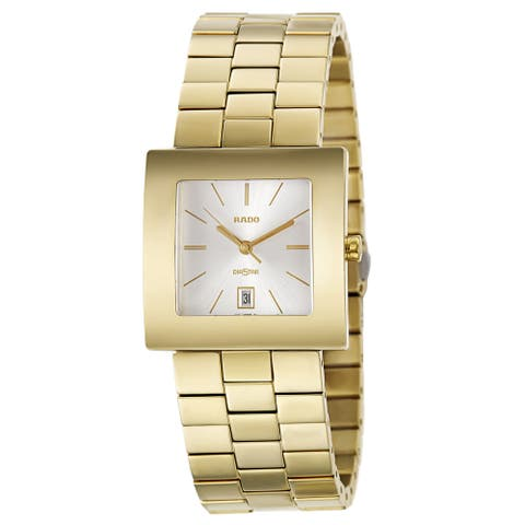 Rado Men's 'Diastar' Yellow Gold PVD Coated Hardmetal Swiss Quartz Watch