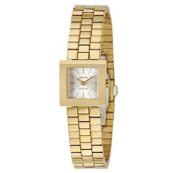 Rado Women's 'Diastar' Yellow Gold PVD Coated Hardmetal Swiss Quartz Watch