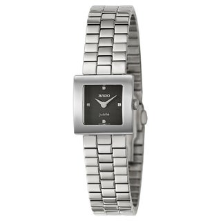 Rado Women's 'Diastar Jubile' Stainless Steel and Diamond Accent Swiss Quartz Watch
