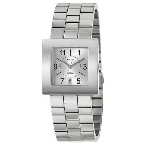 Rado Men's 'Diastar' Stainless Steel Swiss Quartz Watch