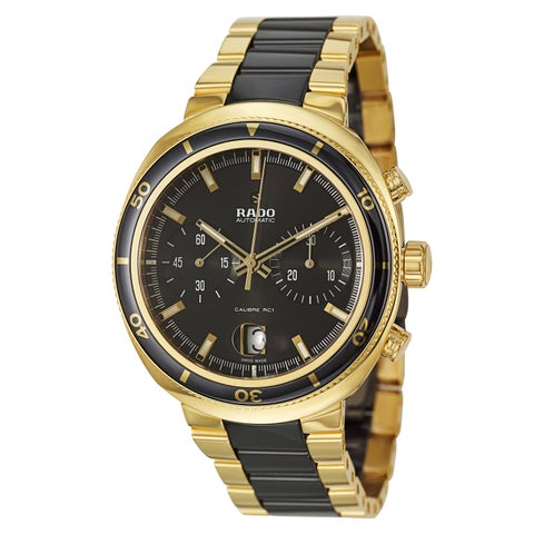 Rado Men's 'D Star' Yellow Goldplated Stainless Steel Chronograph Watch
