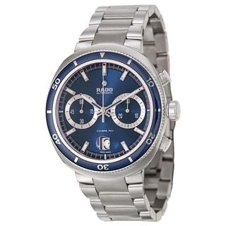 Rado Men's 'D Star' Chronograph Blue Dial Stainless Steel Watch