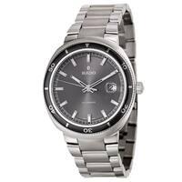 Rado Men's 'D Star' Stainless Steel Swiss Mechanical Automatic Watch