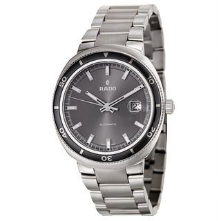 Rado Men's 'D Star' Stainless Steel Swiss Mechanical Automatic Watch