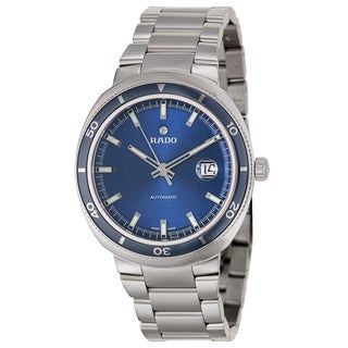 Rado Men's 'D Star' Stainless Steel Swiss Blue Dial Automatic Watch