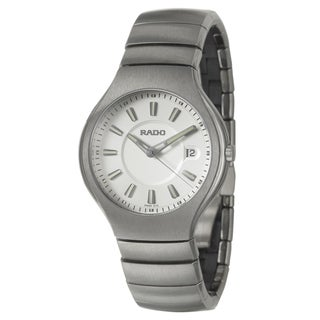 Rado Men's 'True' Grey Ceramic Swiss Quartz Watch