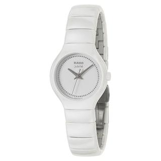 Rado Women's 'True Jubile' White Ceramic Diamond Swiss Quartz Watch