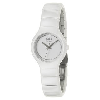 Rado Women's 'True Jubile' White Ceramic Diamond Swiss Quartz Watch
