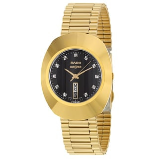 Rado Men's 'Original' Yellow Gold-Plated Hard Metal Swiss Quartz Watch