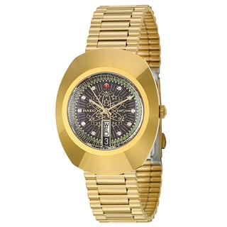 Rado Men's 'Original' Yellow Gold-Plated Hard Metal Swiss Mechanical Automatic Watch