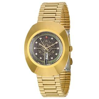 Rado Men's 'Original' Yellow Gold-Plated Hard Metal Swiss Mechanical Automatic Watch|https://ak1.ostkcdn.com/images/products/8771095/Rado-Mens-Original-Yellow-Gold-Plated-Hard-Metal-Swiss-Mechanical-Automatic-Watch-P16011922.jpg?impolicy=medium