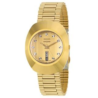Rado Men's 'Original' Yellow Gold-Plated Hard Metal Swiss Quartz Watch
