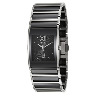 Rado Men's 'Integral' Stainless Steel Swiss Quartz Watch