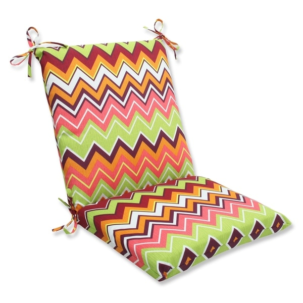 Pillow Perfect Zig Zag Squared Corners Outdoor Chair Cushion