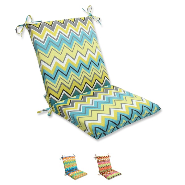 Pillow Perfect Zig Zag Squared Corners Outdoor Chair Cushion Free Shipping Today Overstock