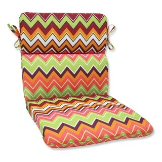 Pillow Perfect Zig Zag Rounded Corners Outdoor Chair Cushion