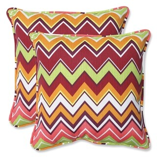 Pillow Perfect Zig Zag 18.5-inch Outdoor Throw Pillows (Set of 2)