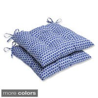 Pillow Perfect Seeing Spots Wrought Iron Seat Outdoor Cushions (Set of 2)