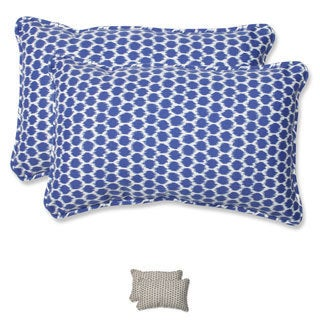 Pillow Perfect Seeing Spots Rectangular Outdoor Throw Pillows (Set of 2)