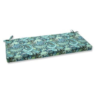 Pillow Perfect Pretty Paisley Navy Bench Outdoor Cushion