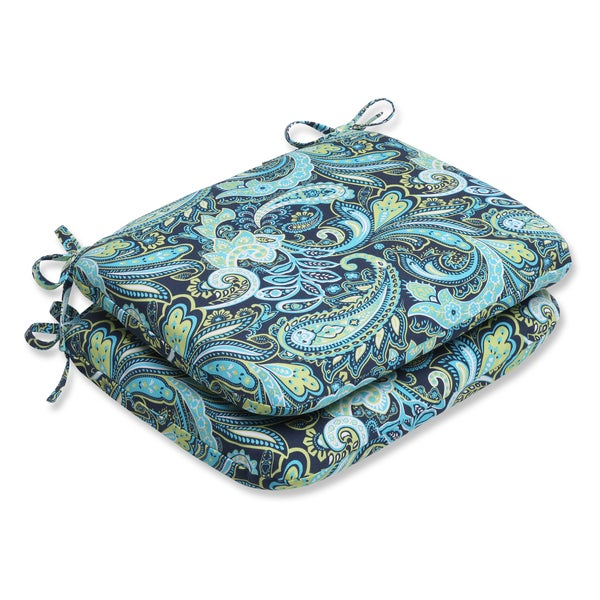 Shop Pillow Perfect Pretty Paisley Navy Rounded Corners
