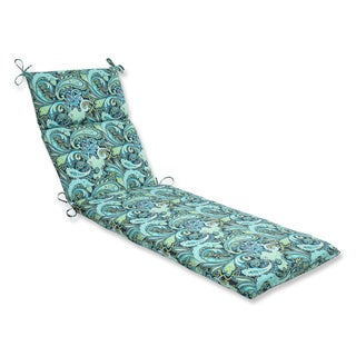 Pillow Perfect Pretty Paisley Navy Chaise Lounge Outdoor Cushion