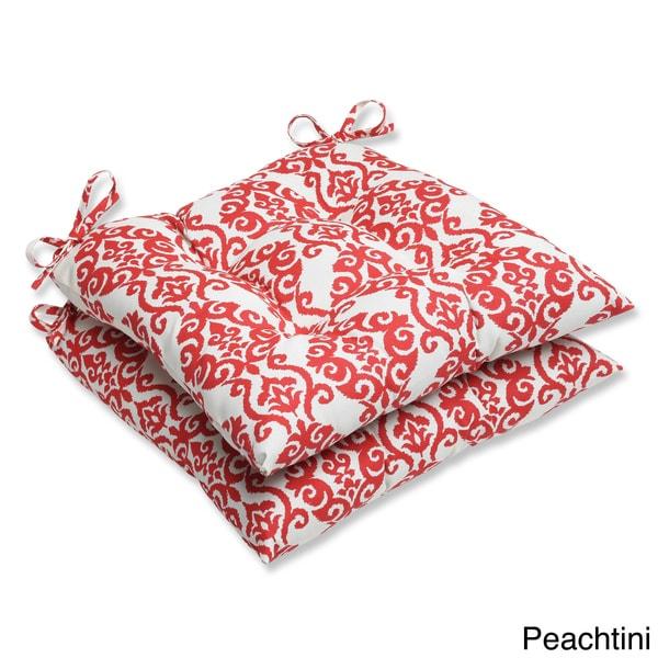 Pillow Perfect U0026#x27;Luminaryu0026#x27; Outdoor Wrought Iron Seat Cushions (