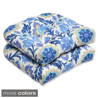 Pillow Perfect 'Santa Maria' Outdoor Wicker Seat Cushions (Set of 2)