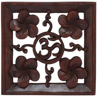 Hand-carved Wooden 'Ohm' Wall Hanging (Indonesia)