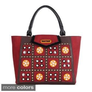 Nicole Lee 'Daysha' Flowery Embellished Tote Bag