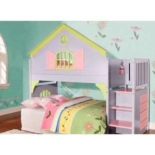 Donco Kids Twin-size Doll House Stair Step Loft