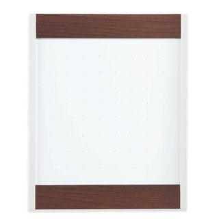 Quartet Platinum Magnetic Mahogany Total Erase Whiteboard (3' x 4')