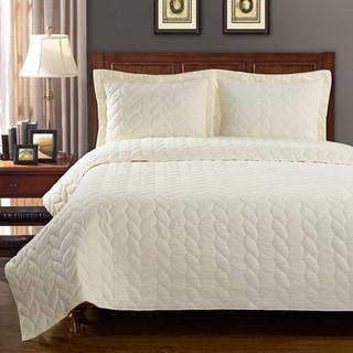 Superior Amy Reversible Braided Cotton Quilt Set